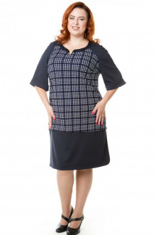 Платье 454 Luxury Plus (Сине-белый)