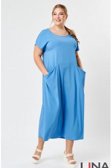 """Платье """"Лина"""" 52153 (Голубой)"""