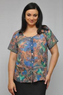 """Блуза """"Олси"""" 1210013.2 ОЛСИ (Синий/оранж)"""